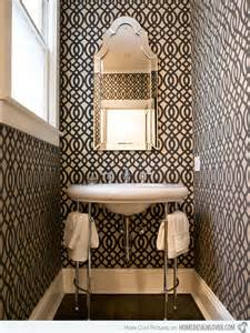 wallpaper bathroom designs black and white wallpaper in 15 bathrooms and powder rooms
