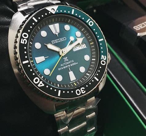 Jam Tangan Emeral seiko prospex srpb01k1 green turtle automatic divers 200m