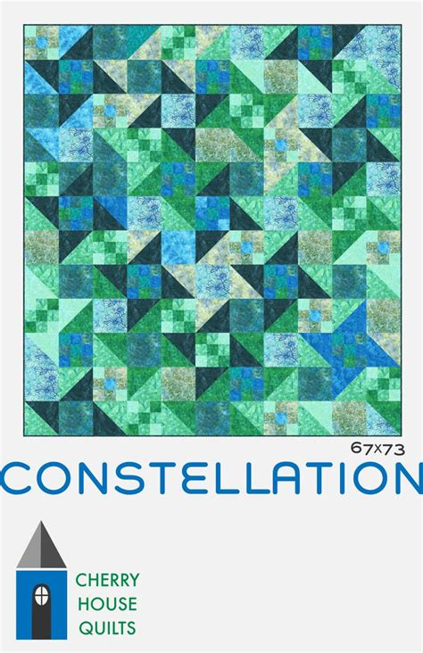 Constellation Quilt Pattern cherry house quilts constellation our newest quilt pattern