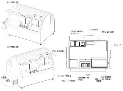 Working Drawing Floor Plan by Coffee Vans Food Vans Trailers And Drivers Carts