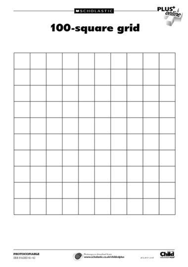 100 Square Grid Template | Classroom art projects, Art