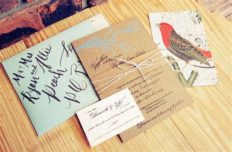 rustic twine wedding invitations danielle rob s rustic chipboard wedding invitations