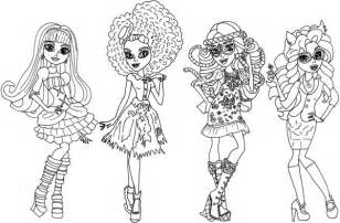 beautiful in monster high coloring page color luna