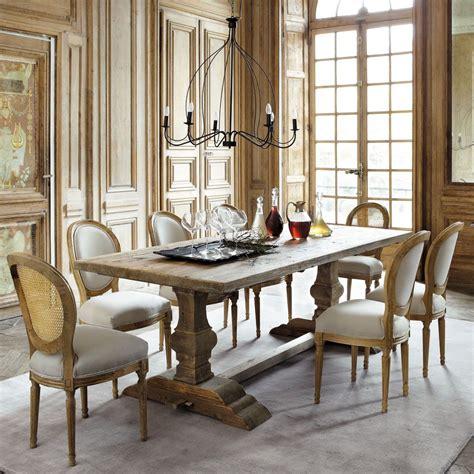table salle a manger maison du monde table de salle 224 manger en bois effet vieilli l 220 cm