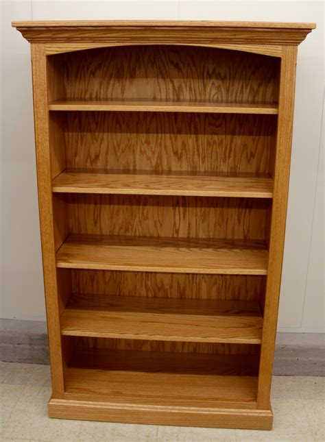 2 Wide Bookcase 5 Deluxe Traditional Bookcase 37 1 2 Wide Amish