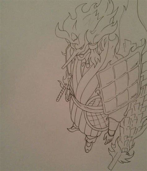 drawing madara uchiha s perfect susanoo anime amino