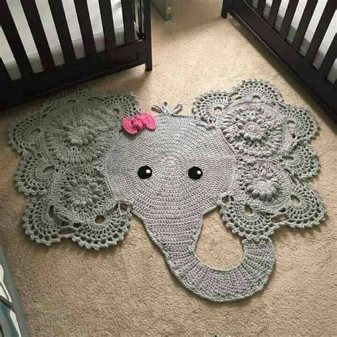 Elephant Rug by Crochet Animal Rugs Beautiful Patterns The Whoot