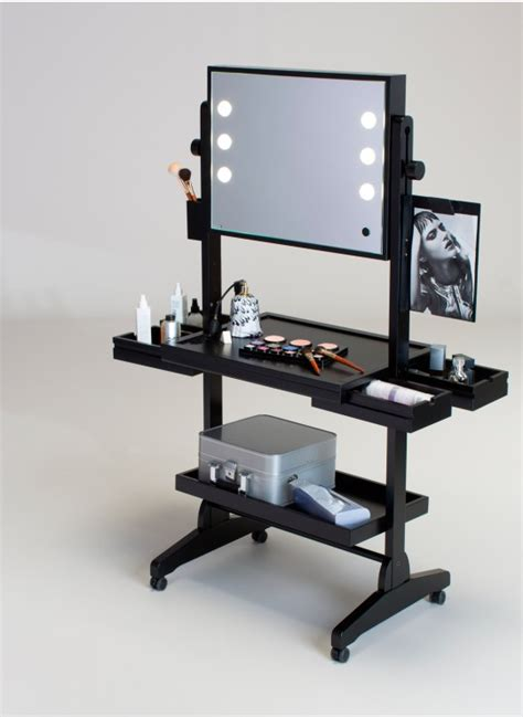 Portable Vanity Table Make Up Station On Wheels