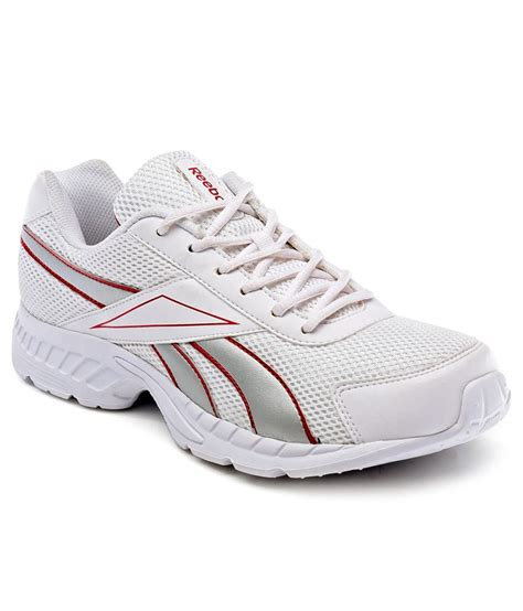 reebok running sports shoes rbj15606whtredsil buy