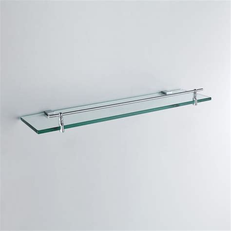 Chrome And Glass Bathroom Shelves Buy Modern Contemporary Chrome Finish Silver Single Layer Bath Shelf Brass Wall Mounted Glass