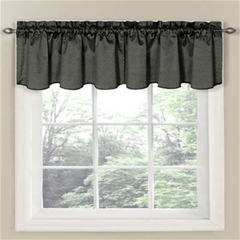 Charcoal Valance insola window curtain valance in charcoal