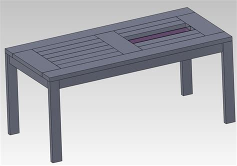 how to build a diy patio table with built in wine coolers