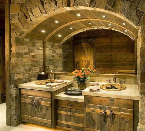 lodge bathroom rustic bathroom bathroom pinterest