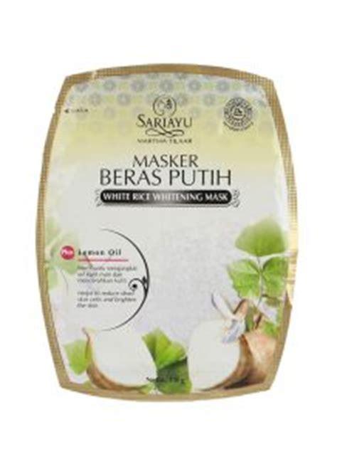 Masker Wajah Sariayu Beras Putih 30 merk masker pemutih wajah alami terbaik dan harganya
