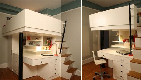 Loft Beds With Desk For Adults Cool Mixing Work With Pleasure Loft Beds With Desks