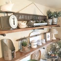 kitchen shelf decorating ideas best 25 rustic shelves ideas on shelves