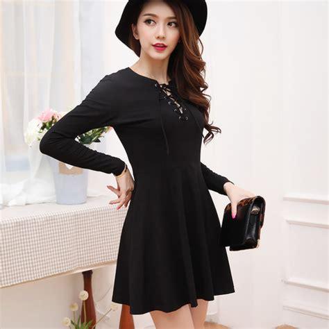 Korea Dress Shania Black Size L dress black strings overalls xl dress dress asian fashion plus size ulzzang