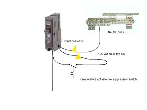 shunt trip breaker schematic exhaust fan get free image