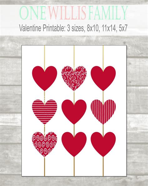 How To Decorate My New Home by Valentine Printable Heart Valentine Decor 8x10 11x14