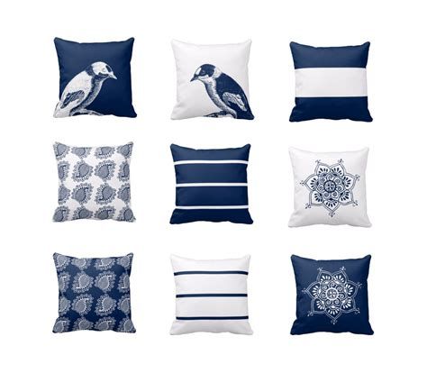 navy blue couch pillows navy white throw pillow covers navy blue white decor modern