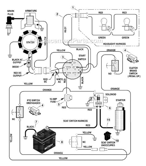 murray ignition switch wiring diagram briggs and stratton