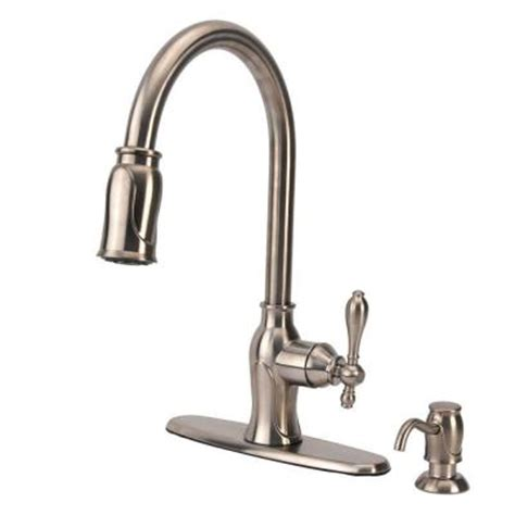 Fontaine Kitchen Faucet Fontaine Single Handle Pull Sprayer Kitchen Sink Faucet With Soap Dispenser In