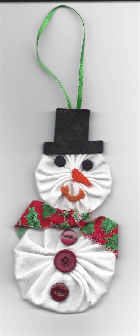 yo yo snowman ornament made by us christmas pinterest