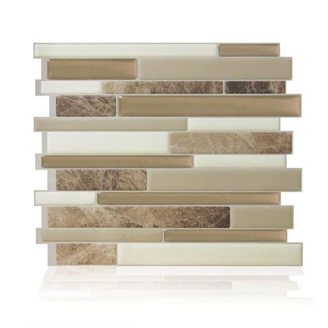 smart tiles bellagio sabbia approximately 3 in w x 3 in smart tiles bellagio sabbia beige 10 06 in w x 10 00 in