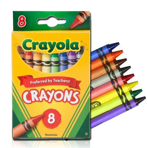 Color Box 4 In 1 crayola crayons classic colors nontoxic 8 pack 52 3008