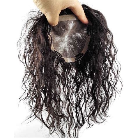 hair wiglets for women women curly human hair topper toupee hairpiece replacement