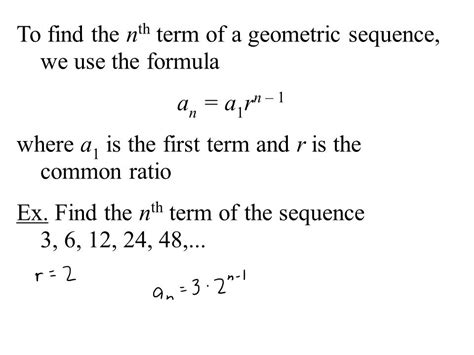 geometric number pattern formula series and sequences an infinite sequence is an unending