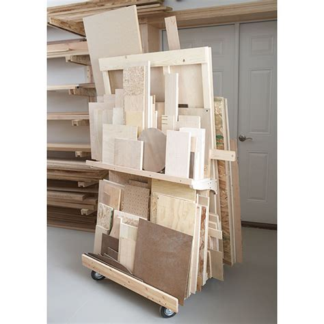modular home plans woodworker magazine mobile sheet goods rack woodworking plan from wood magazine