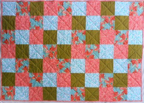 Hawaiian Patchwork Quilt - patchwork floral quilt bright flower quilt aqua quilt green