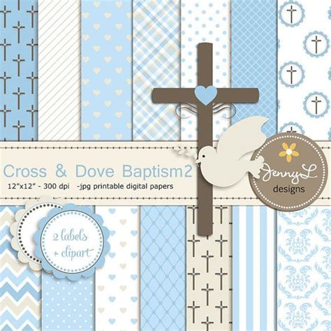 scrapbook layout ideas baby christening boy baptism digital papers cross dove clipart first