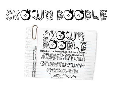doodle free font doodle font types for creating designs with theme