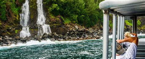 c big island lava boat tour lava ocean tours ultimate hawaii waterfall tour hawaii