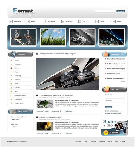 Drupal Themes Video Gallery | 4 video drupal themes free background templates
