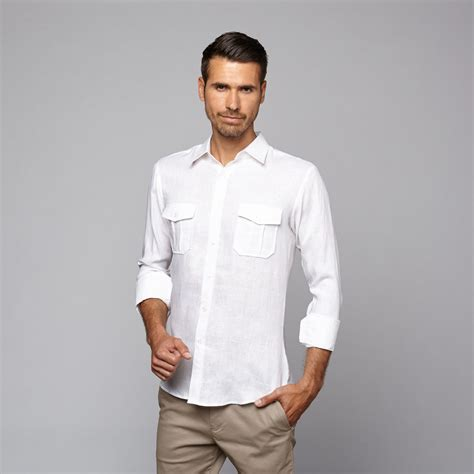 Modern Pocket Shirt linen sleeve two pocket shirt white s mojito touch of modern