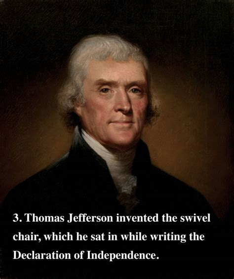 The Most Fascinating Fact About Every Single U S President Jefferson Invented The Swivel Chair