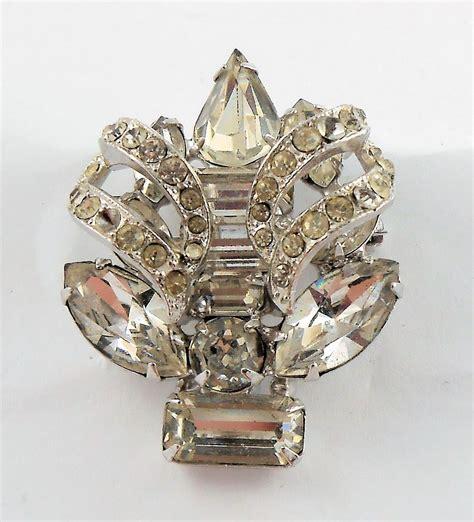 brooch ebay estate costume eisenberg rhinestone brooch pin silver tone vintage ebay