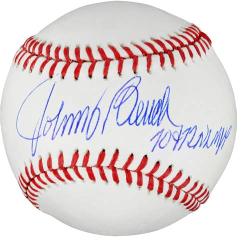 johnny bench seven baseballs johnny bench signed baseball autographed mlb baseballs