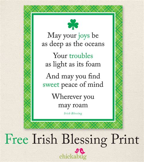 printable irish quotes free printable irish blessing