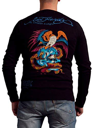 15121 Eagle Embroidered Sweater Sweater Coklat Abu Abu ed hardy mens snake eagle print crewneck sweater apparel in the uae see prices reviews and
