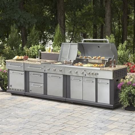 outdoor kitchen modular master forge modular outdoor kitchen set lowe s canada