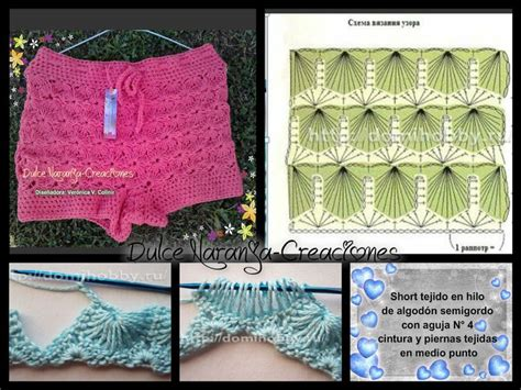 short crochet patrones patrones de short tejidos a crochet imagui