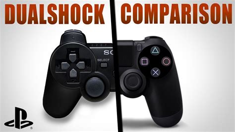 ps4 controller comparison dualshock 4 vs dualshock 3
