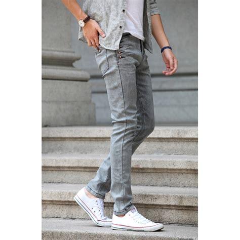 Model Baru Celana Pendek Kasual Pria Twill Stretch Abu Tua Cln 1127 P jual celana pensil cowok
