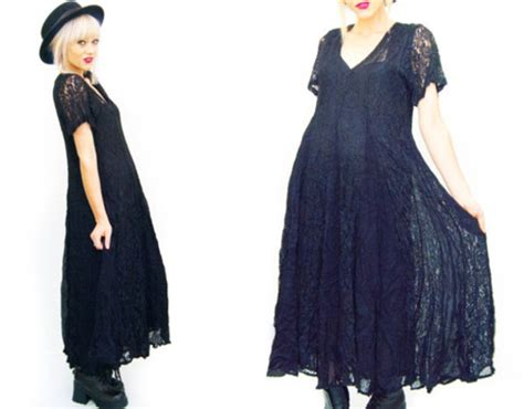 Black Kitchen Furniture dress lace black 90s style grunge 1990s vintage