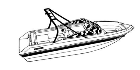 Ski Boat Coloring Pages Colour Pages Hull
