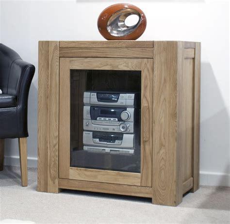 solid oak furniture glazed hi fi stereo storage